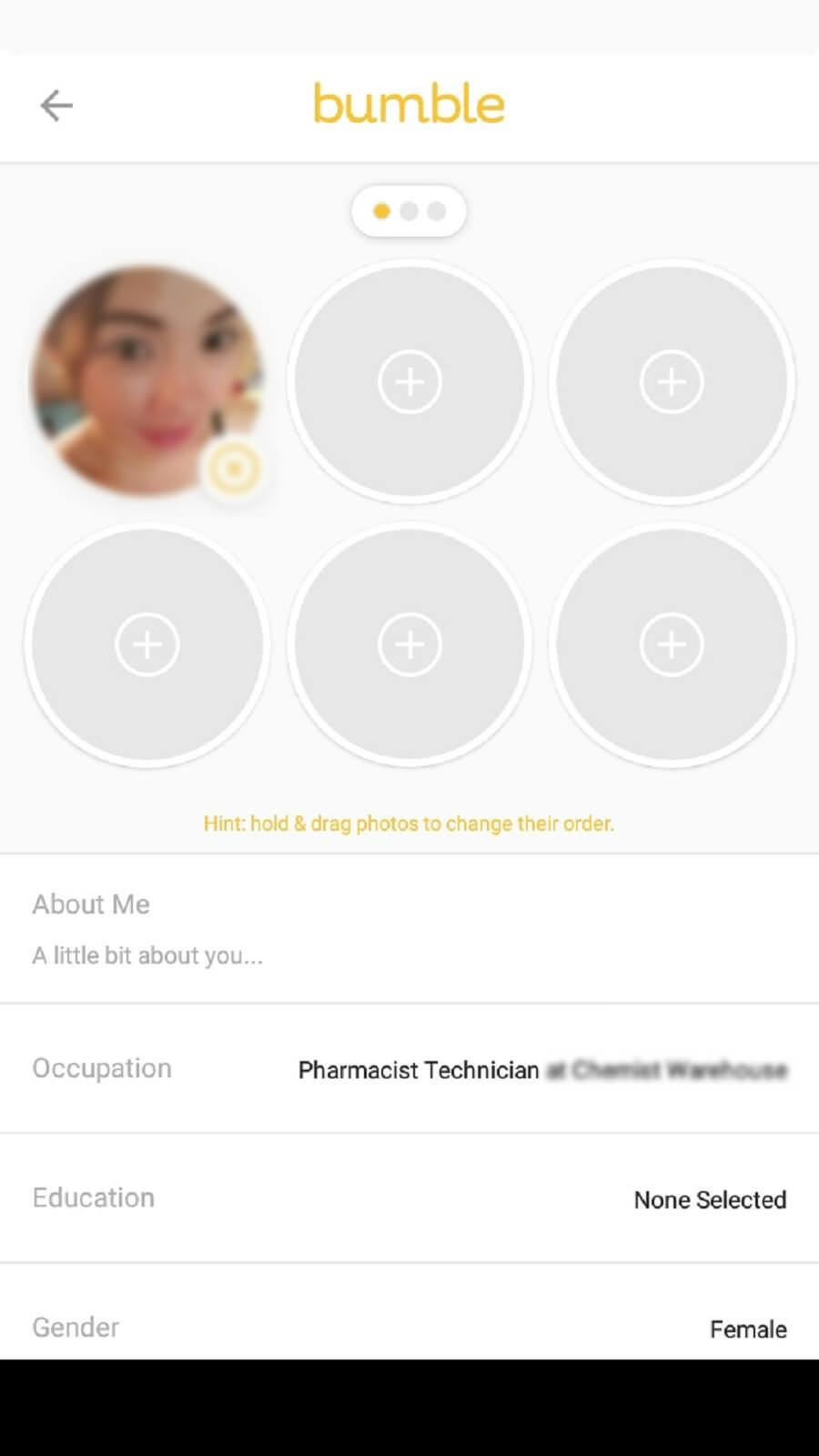 Bumble profile