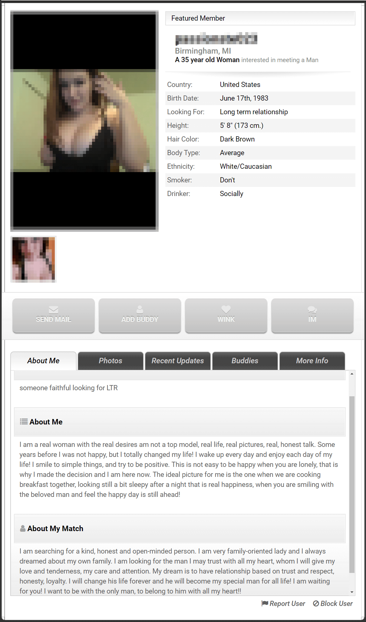 Date Match Profile