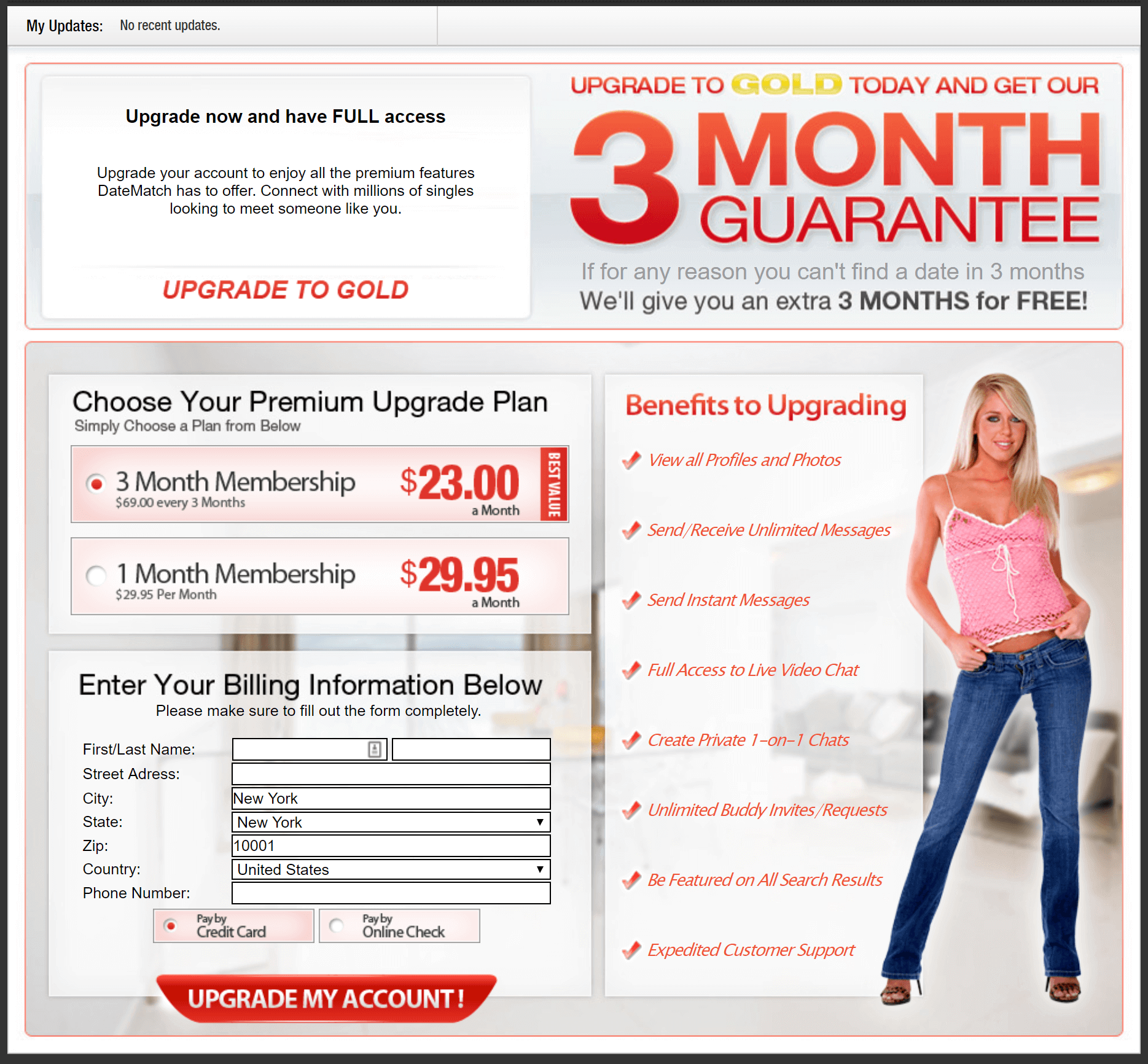 Date Match Price