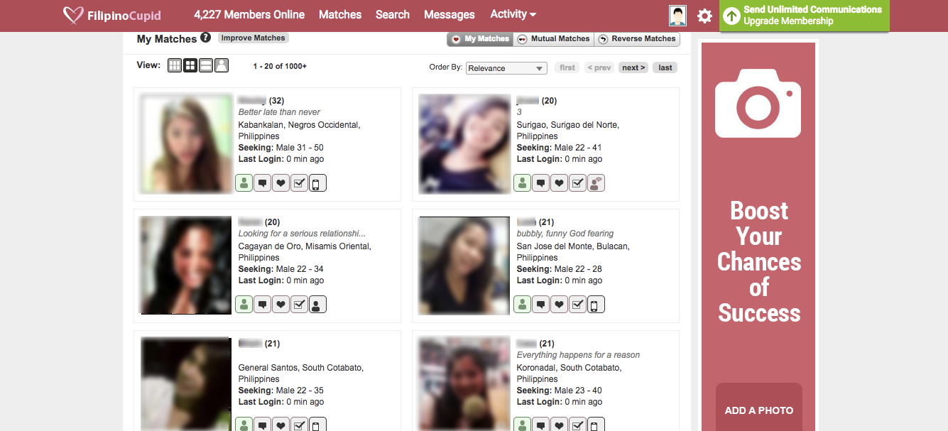 FilipinoCupid Search Results