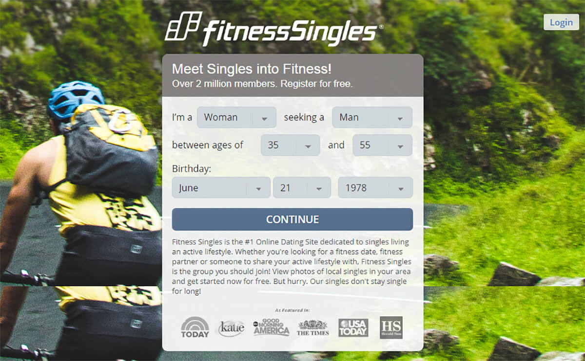 Fitness Singles Signup
