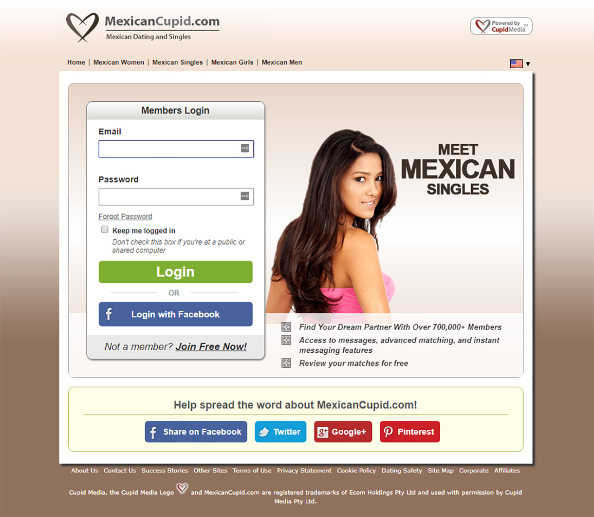 Mexican Cupid Signup