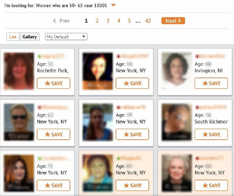 SeniorPeopleMeet search