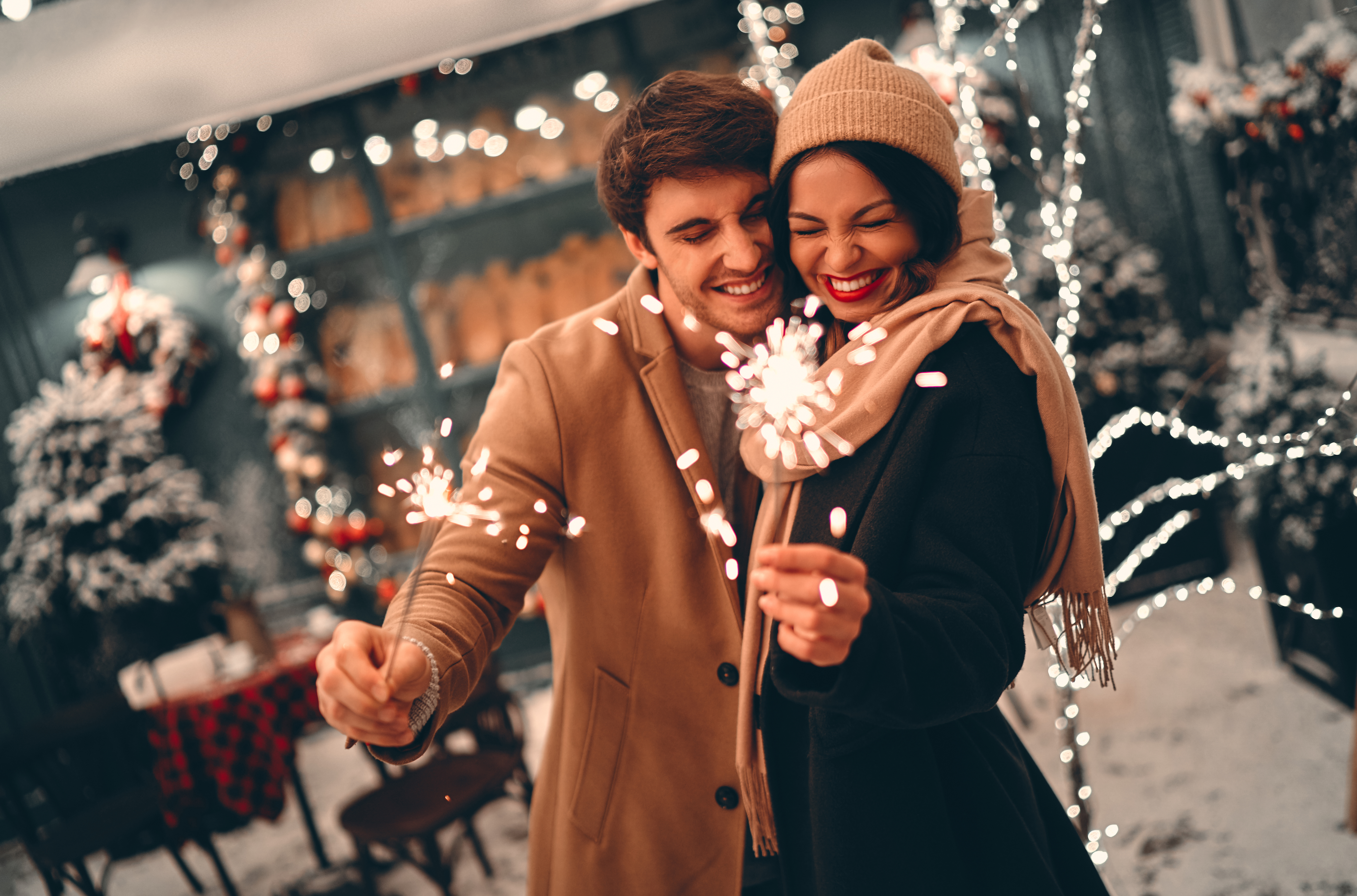 NYE Couple Sparklers at Home