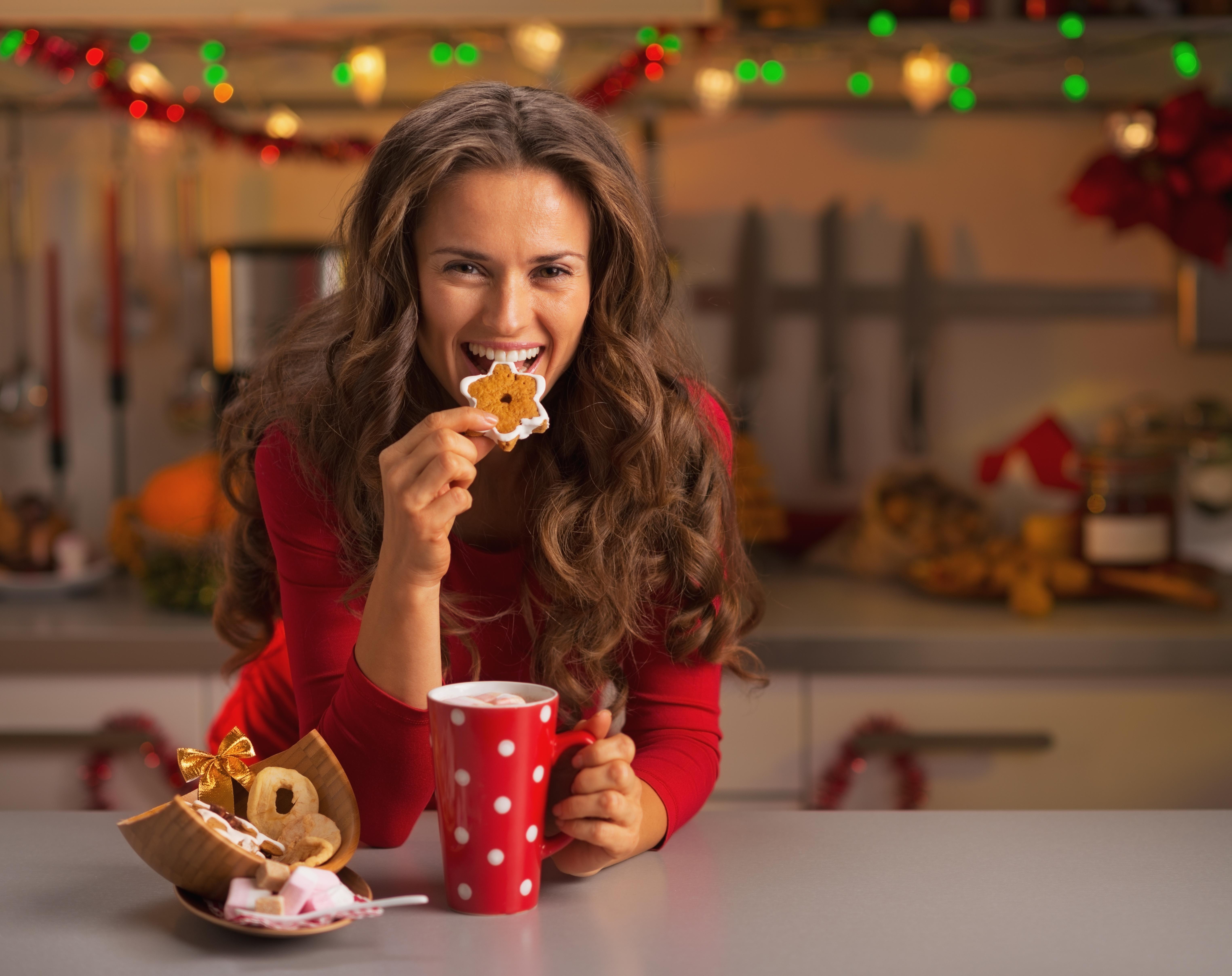 Single Eating Cookie