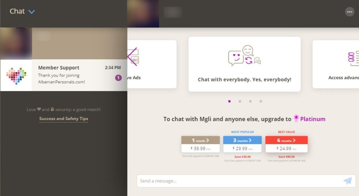 Albanian Personals Messaging