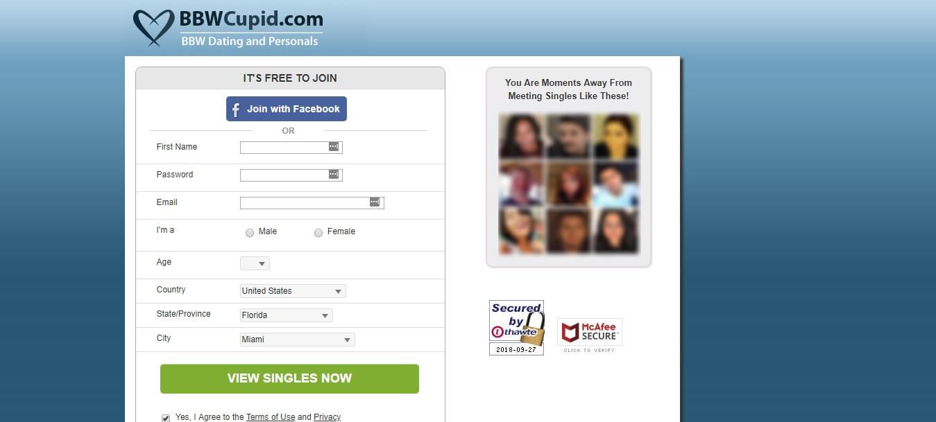 BBWCupid Registration