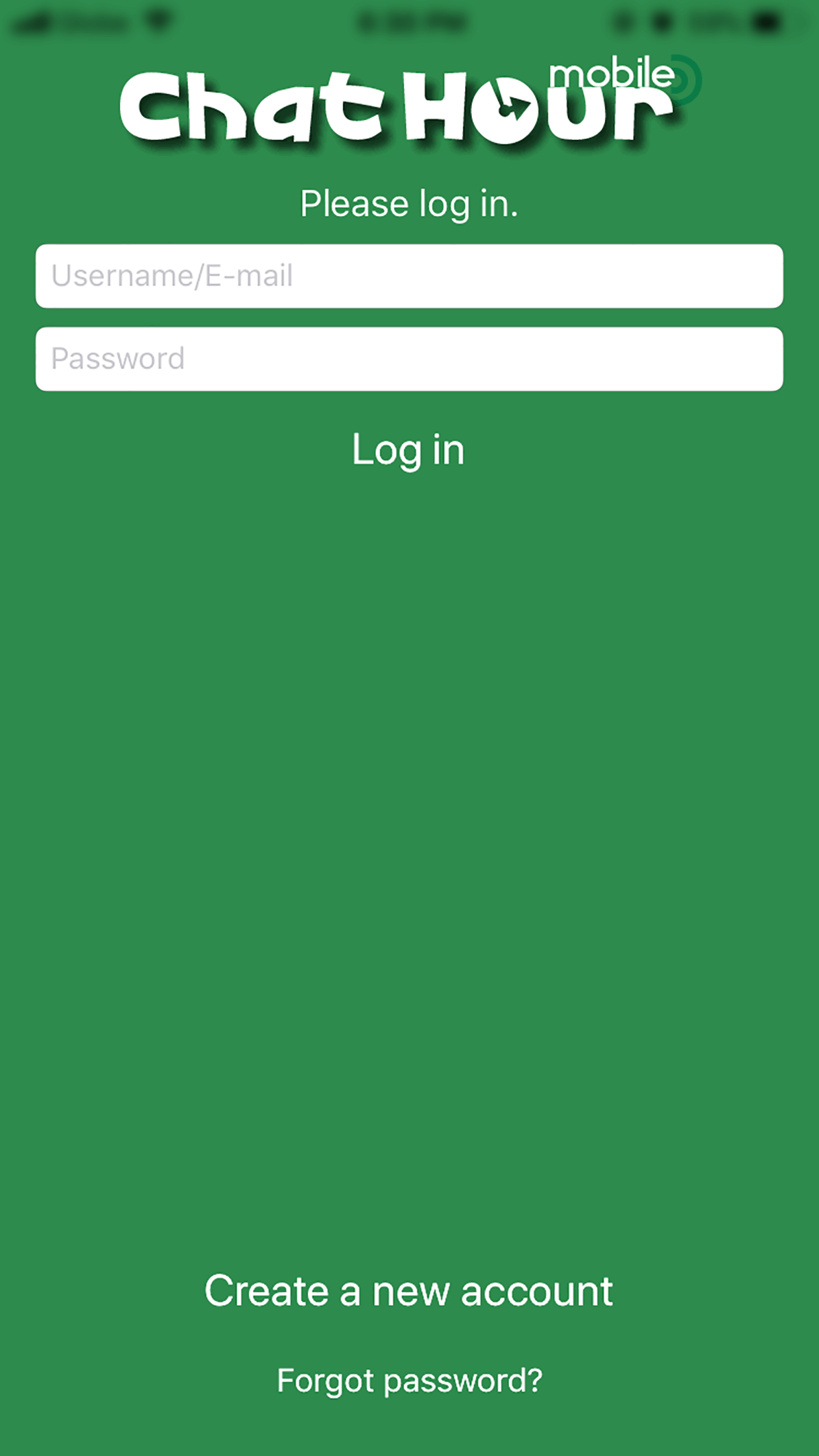 Chat Hour App Login