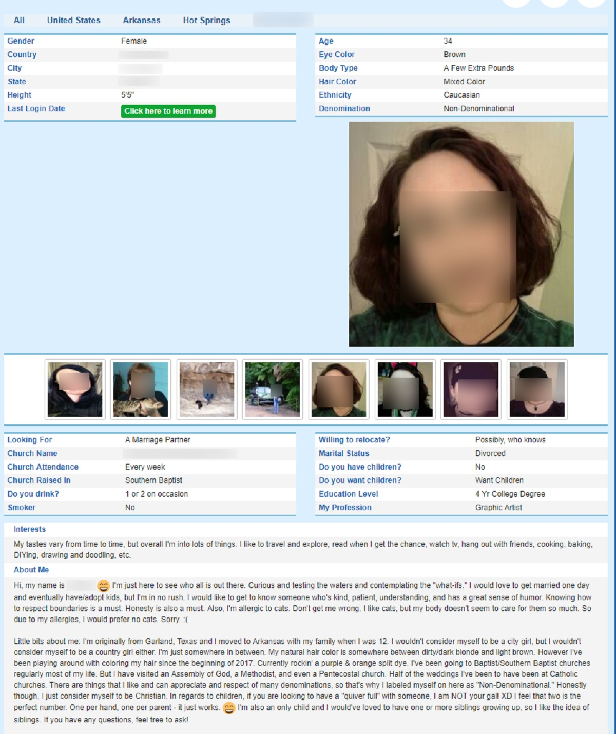 online dating profiel Body types