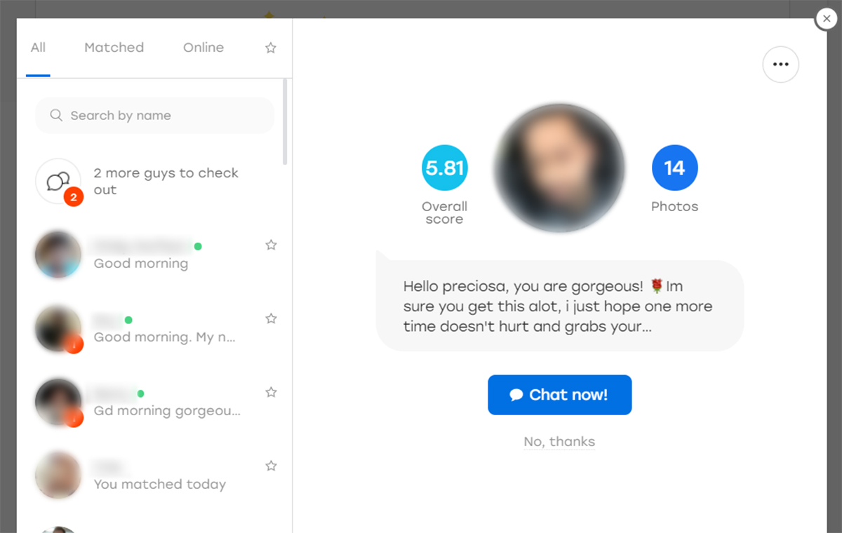Hot or Not Messaging