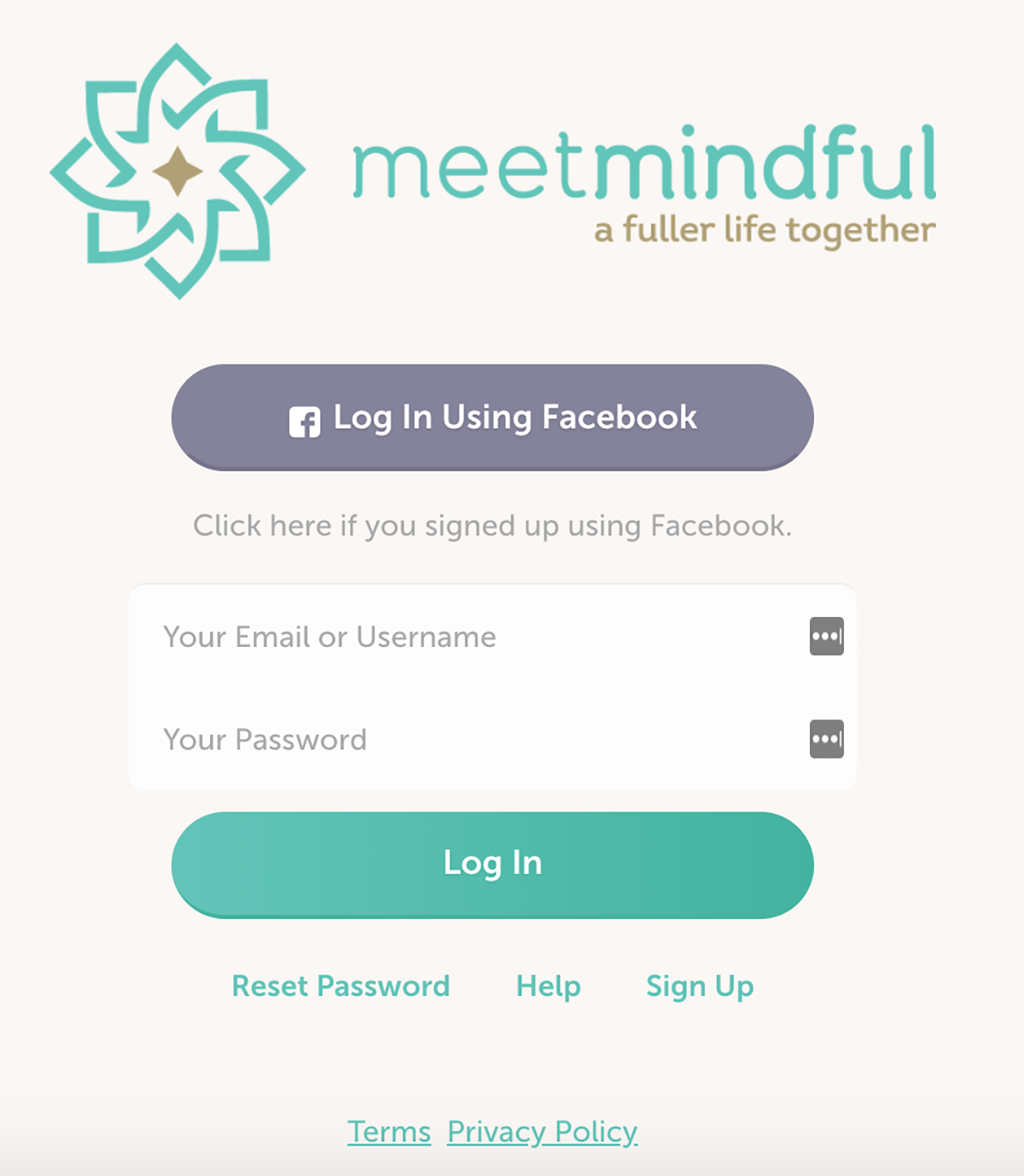 MeetMindful Registration