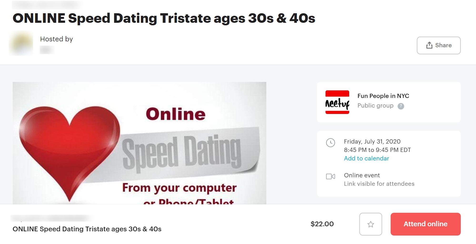 Richmond speed dating meetup