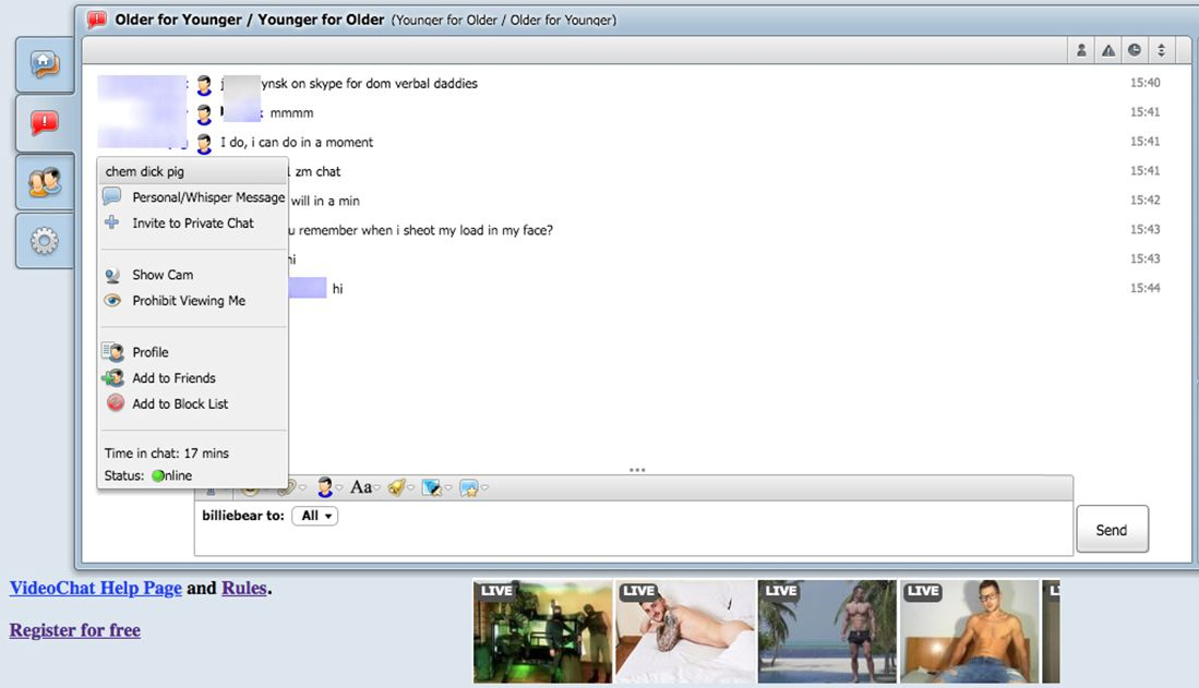 MenChats Contacting Feature