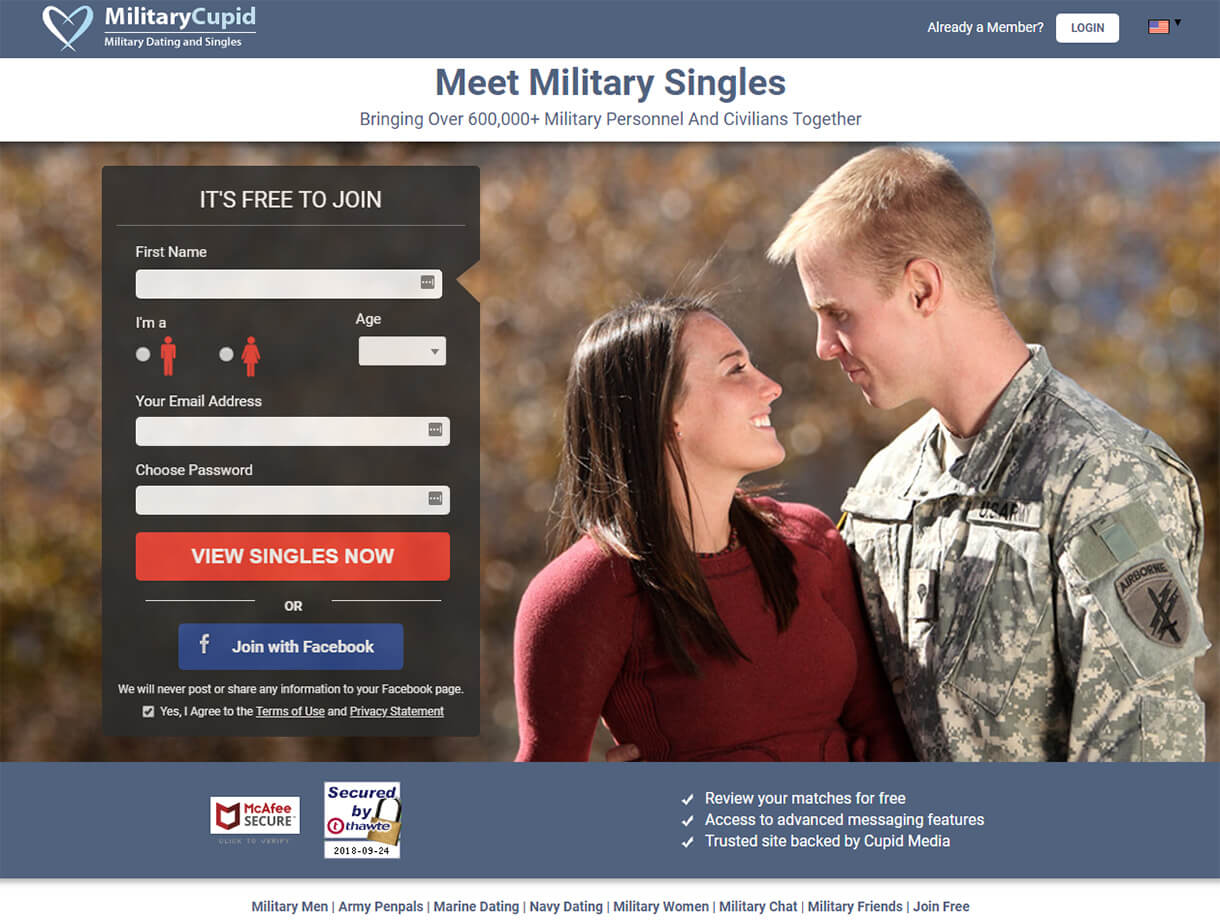 Military Cupid Sign up
