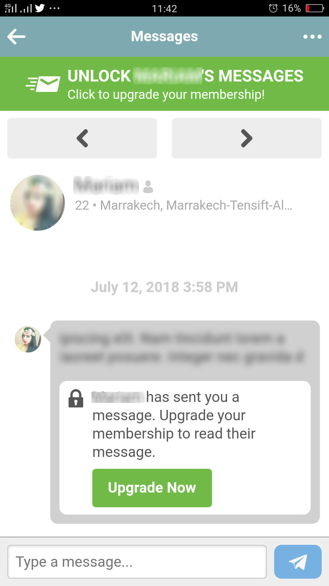 Muslima App Message Inbox