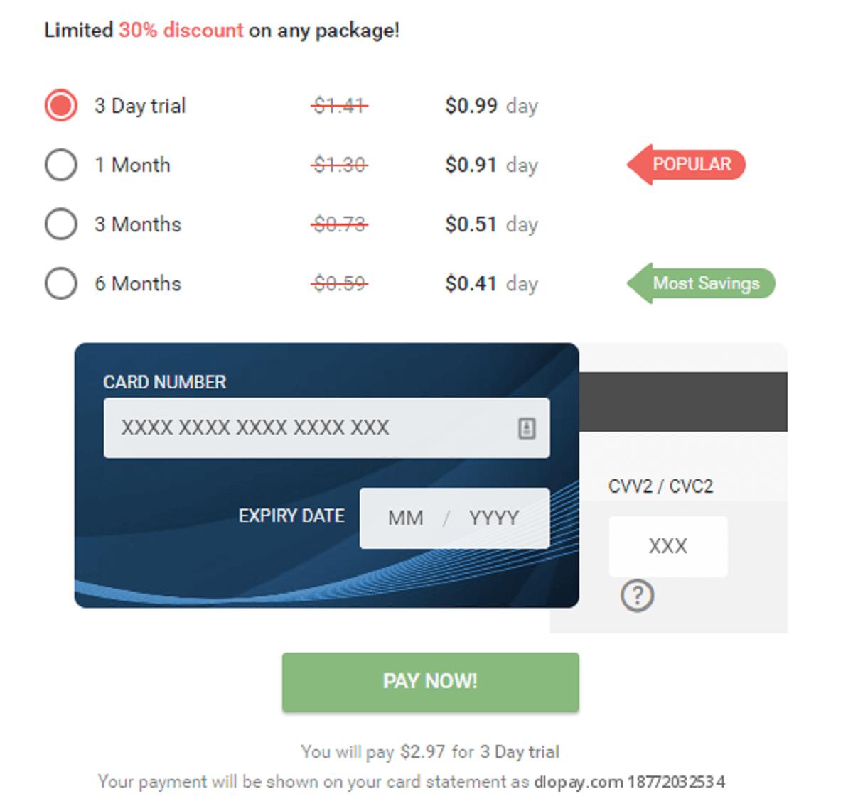 NaughtyDate Cost