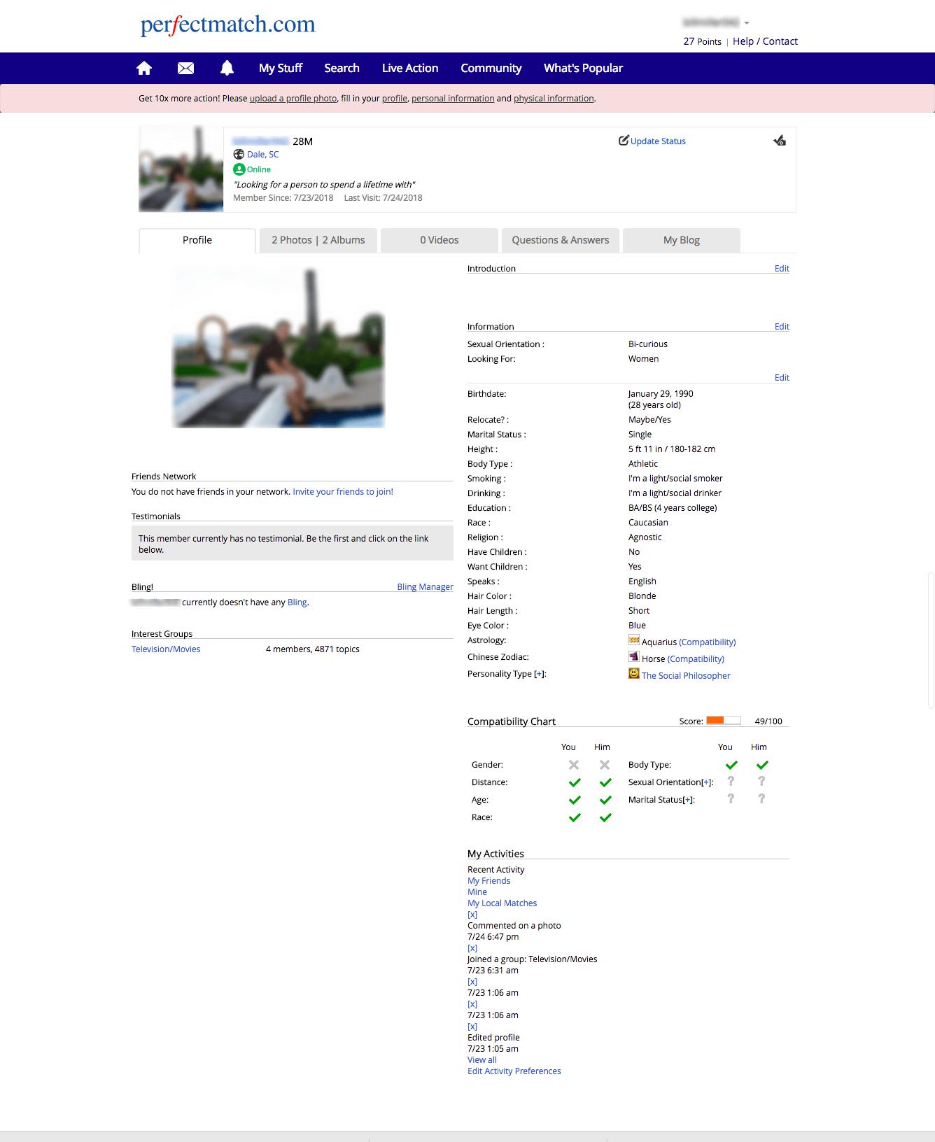 PerfectMatch Profile
