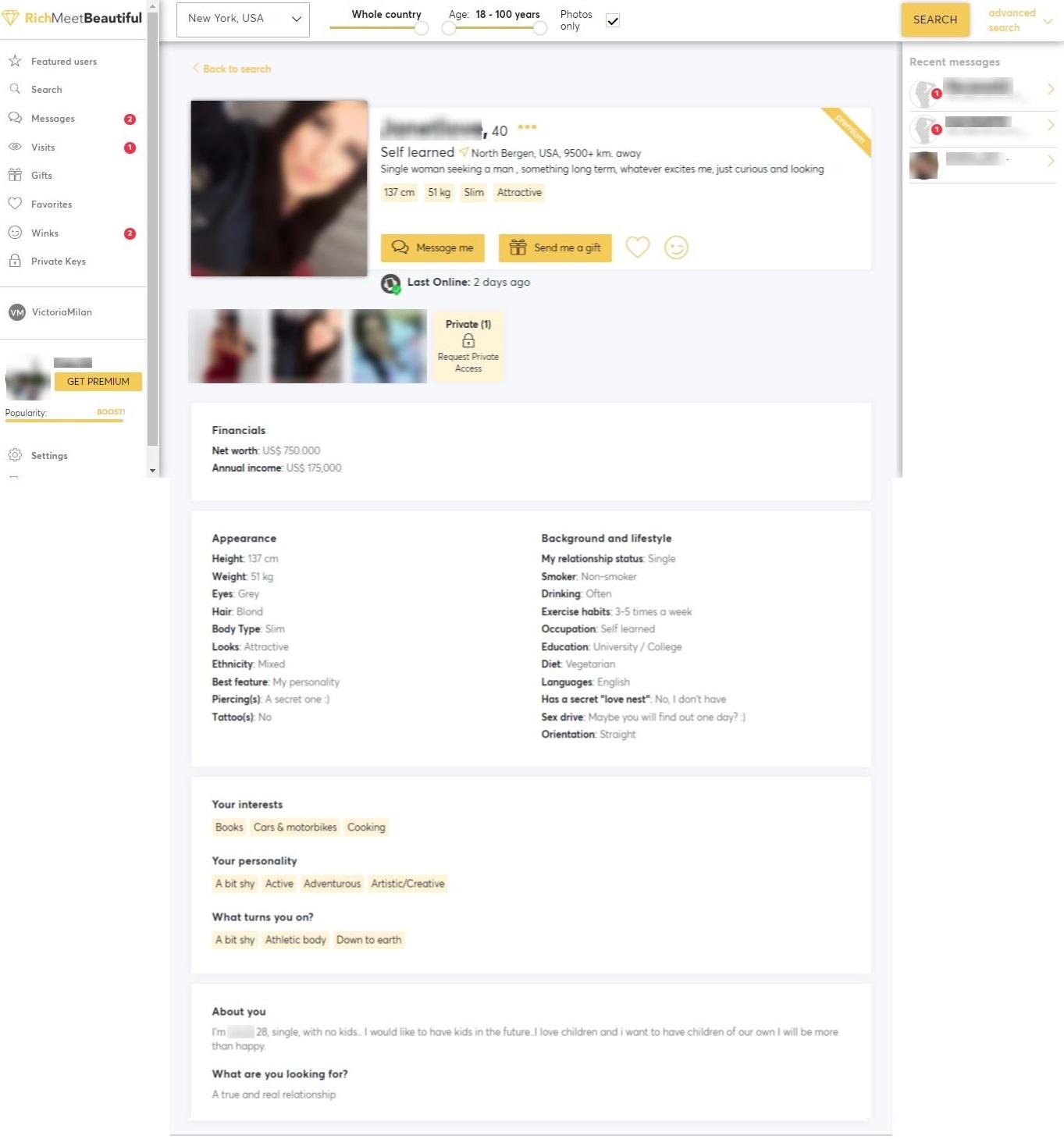 RichMeetBeautiful Female Profile