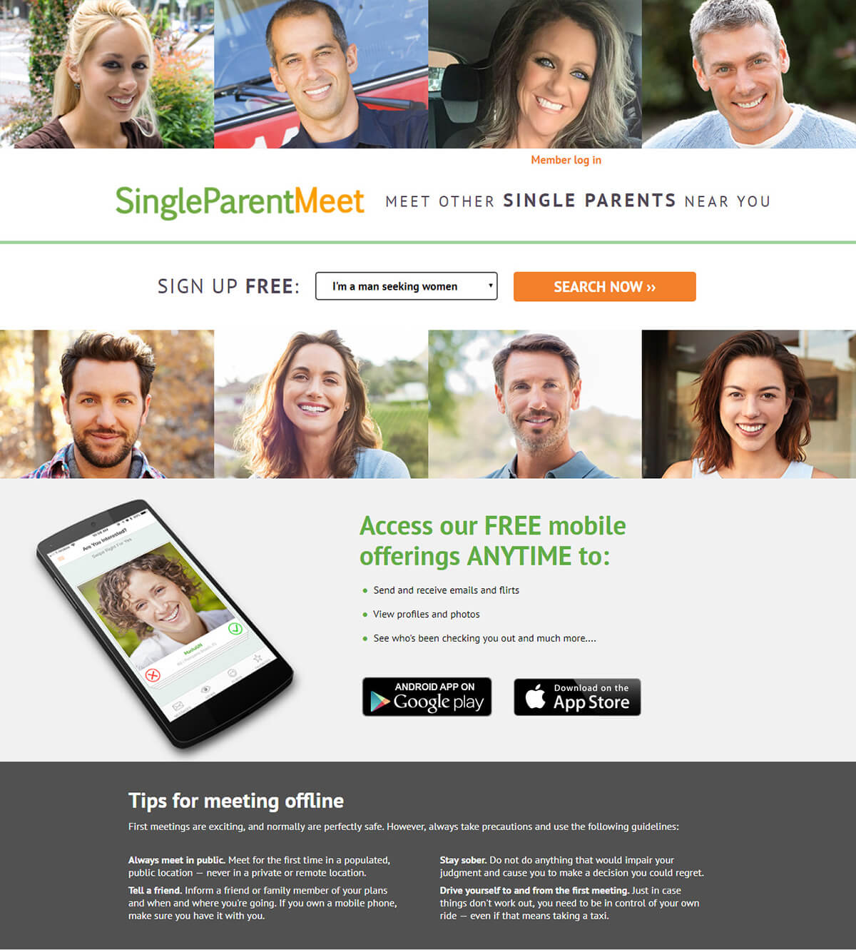 Single Parent Meet Registration