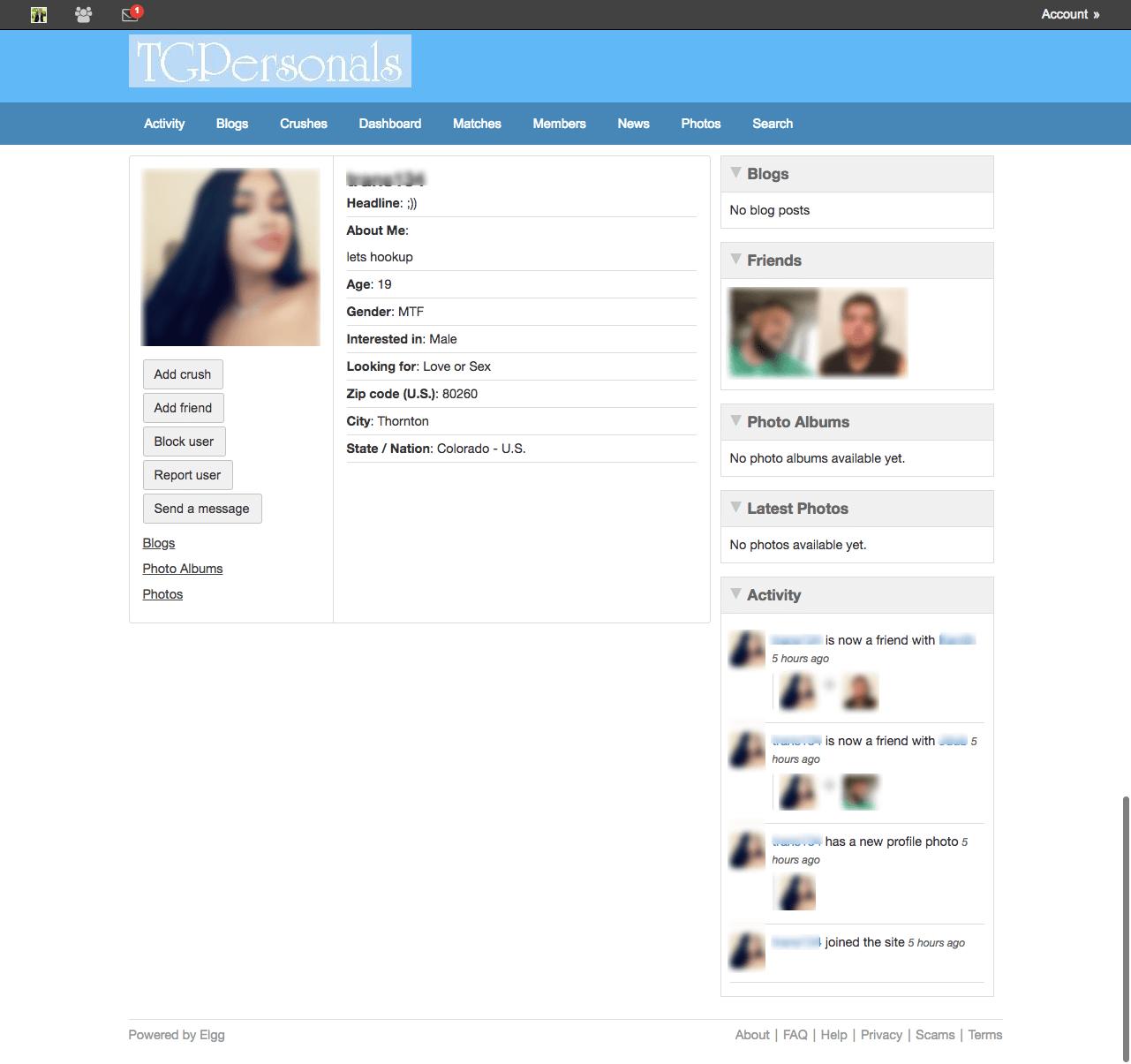 TGPersonals profile