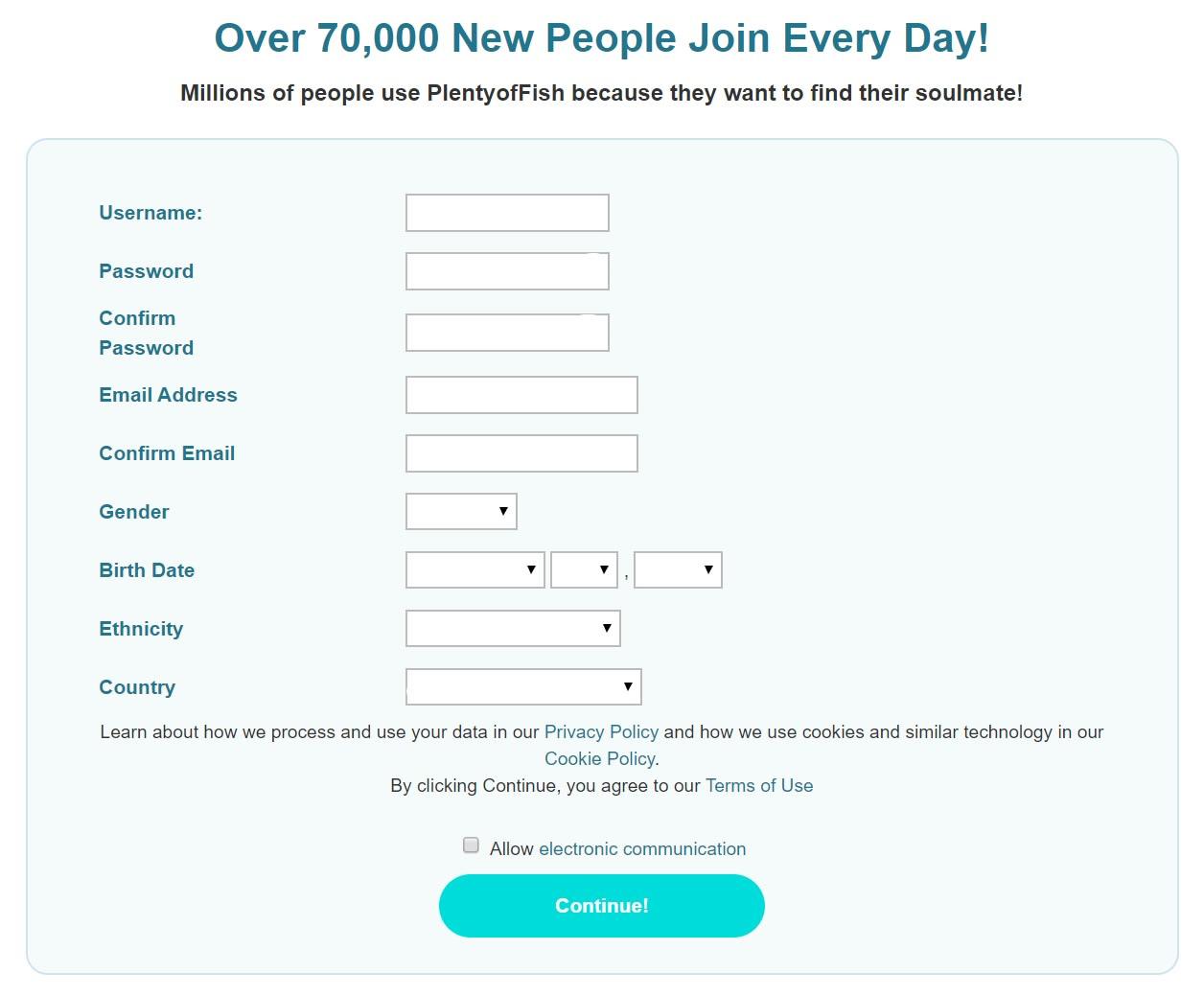 Www pof com sign up