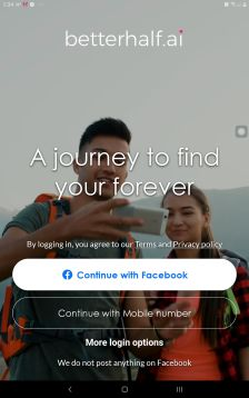 BetterHalf App Landing Page