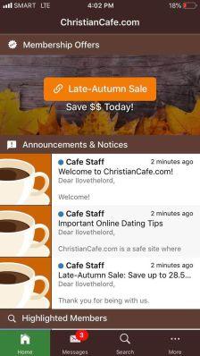 Christian Cafe App
