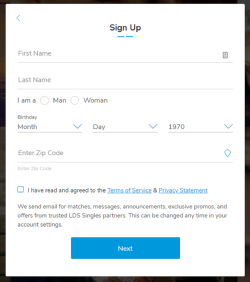 LDS Singles Signup