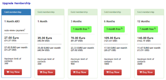 ThaiKisses US Prices