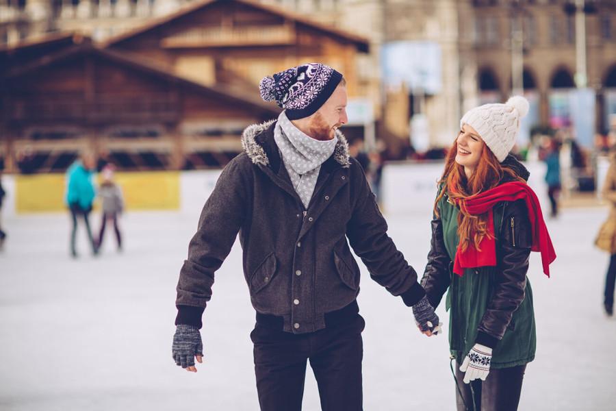 Valentine's Day Date Ice Skating