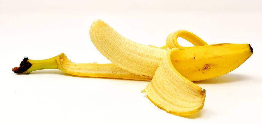 Peel off yellow banana