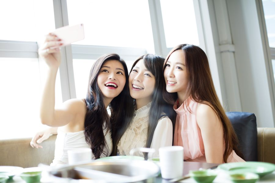 Asian Women Friends