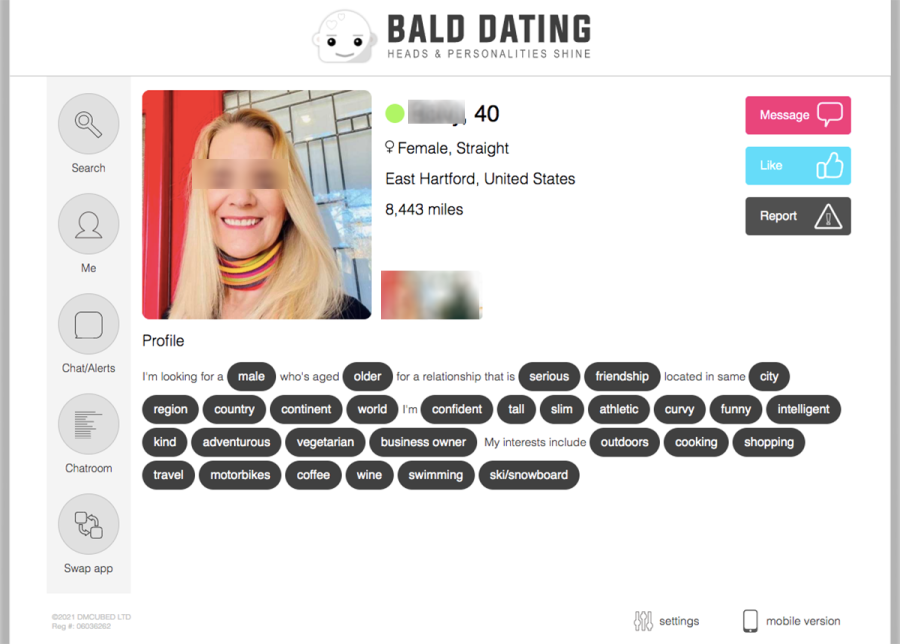 Bald Dating Profile