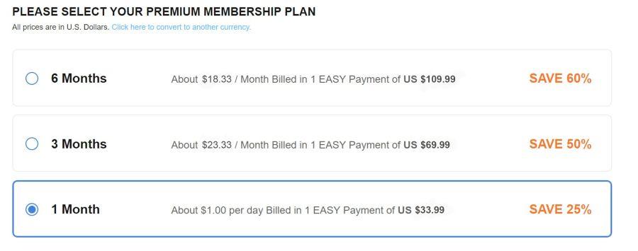 BiCupid Cost
