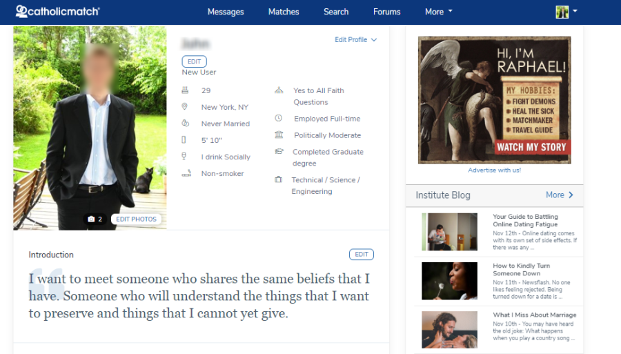Catholic online dating review