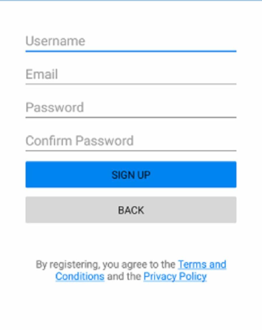 Chatango Registration Step