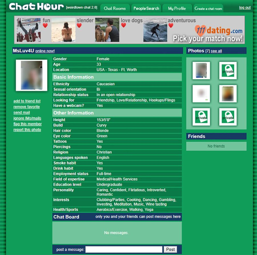 Chat Hour Female Profile
