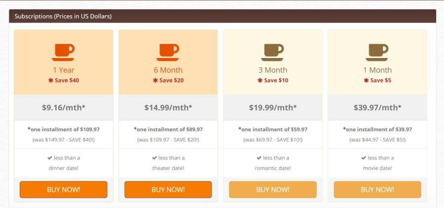 Christian Cafe US Price