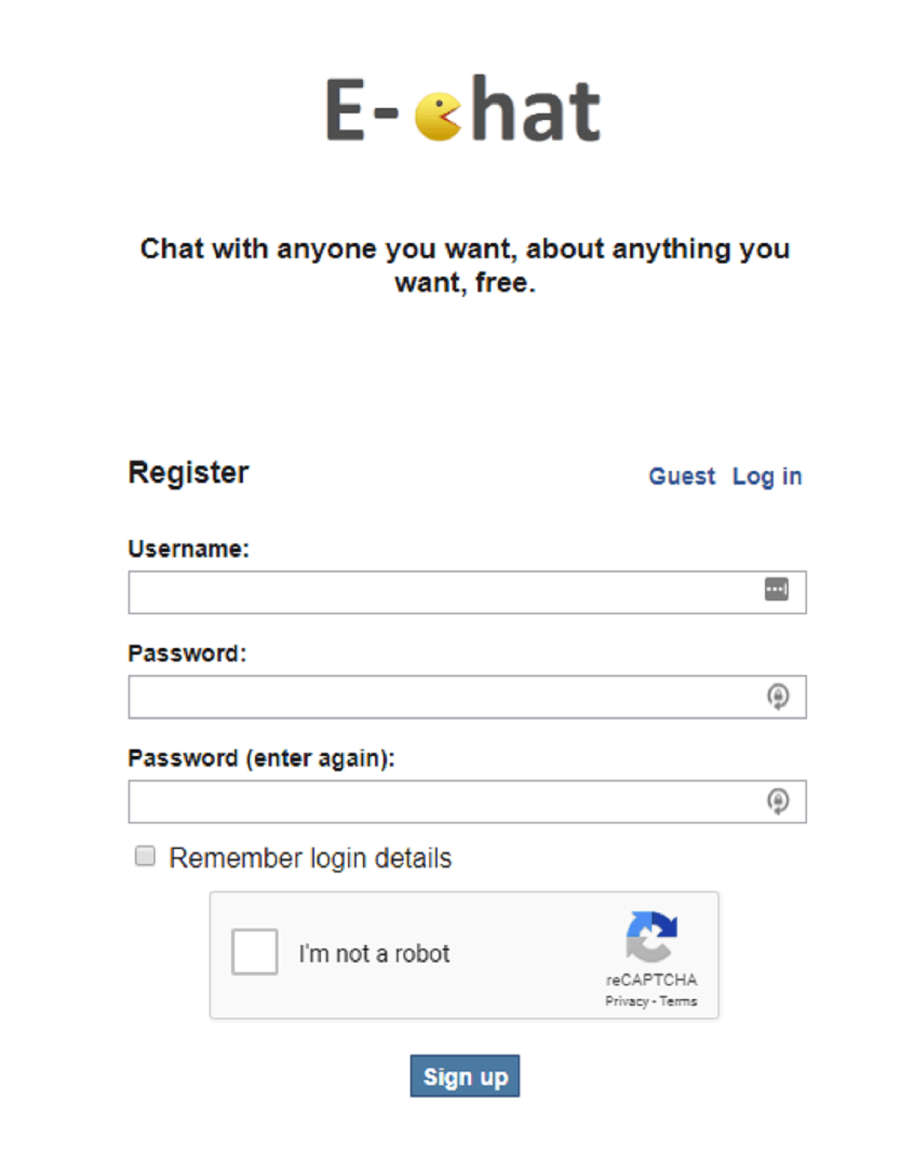 E-Chat Registration