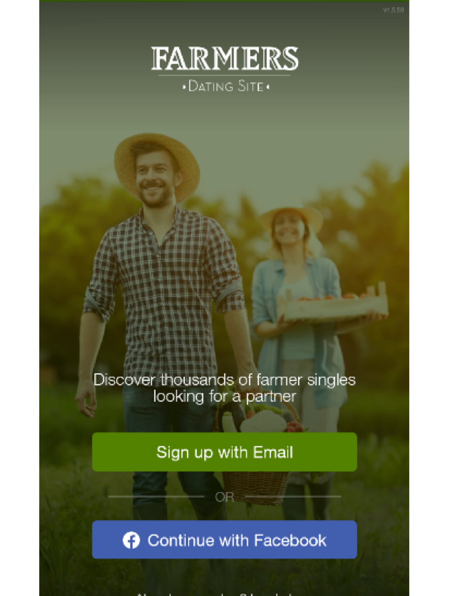 Farmers Dating Site App