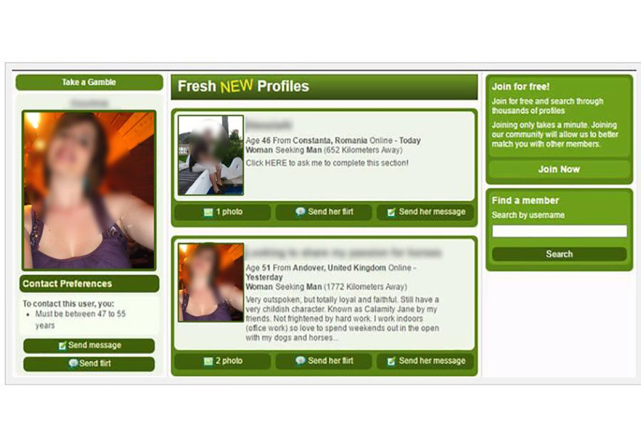 Farmers Dating Site Profile