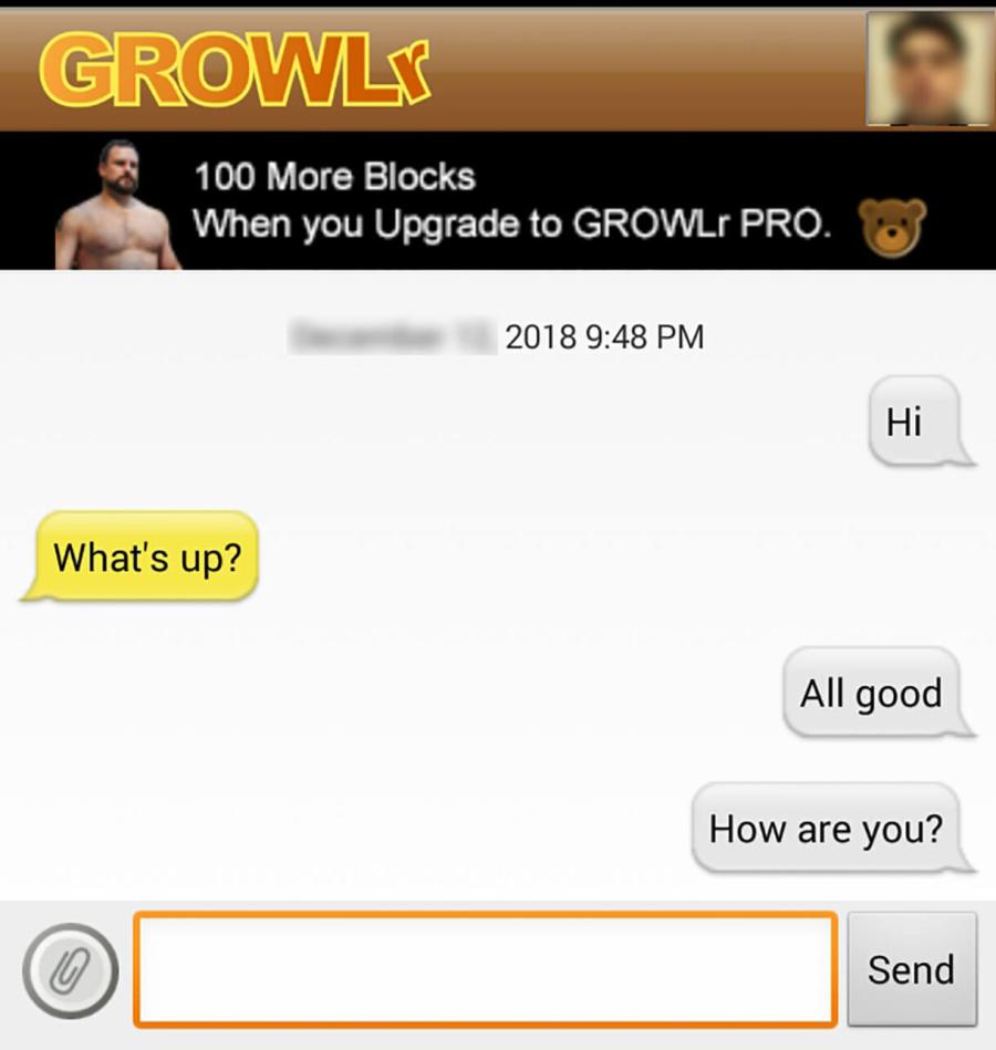 Growlr Message
