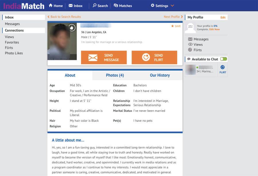 indiamatch profile