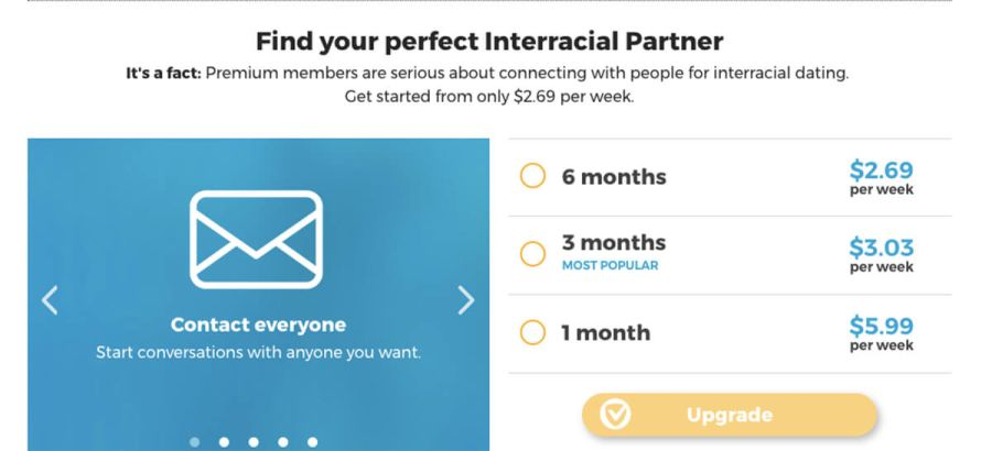 InterracialDatingCentral Cost