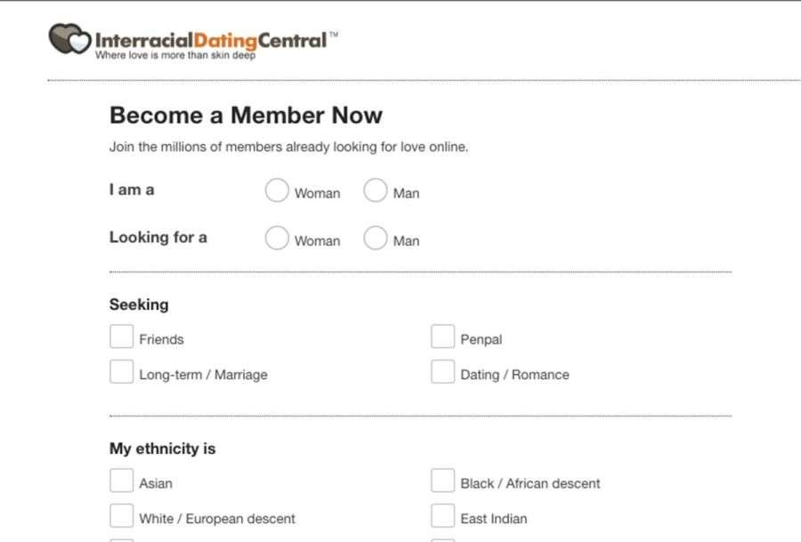Interracial Dating Central Registration