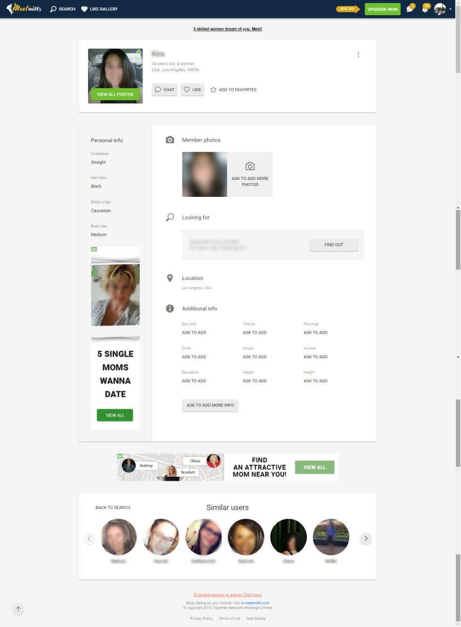 MeetMilfy Profile