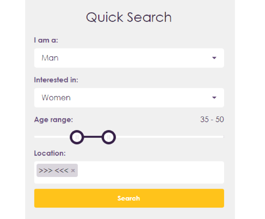MySingleFriend Quick Search