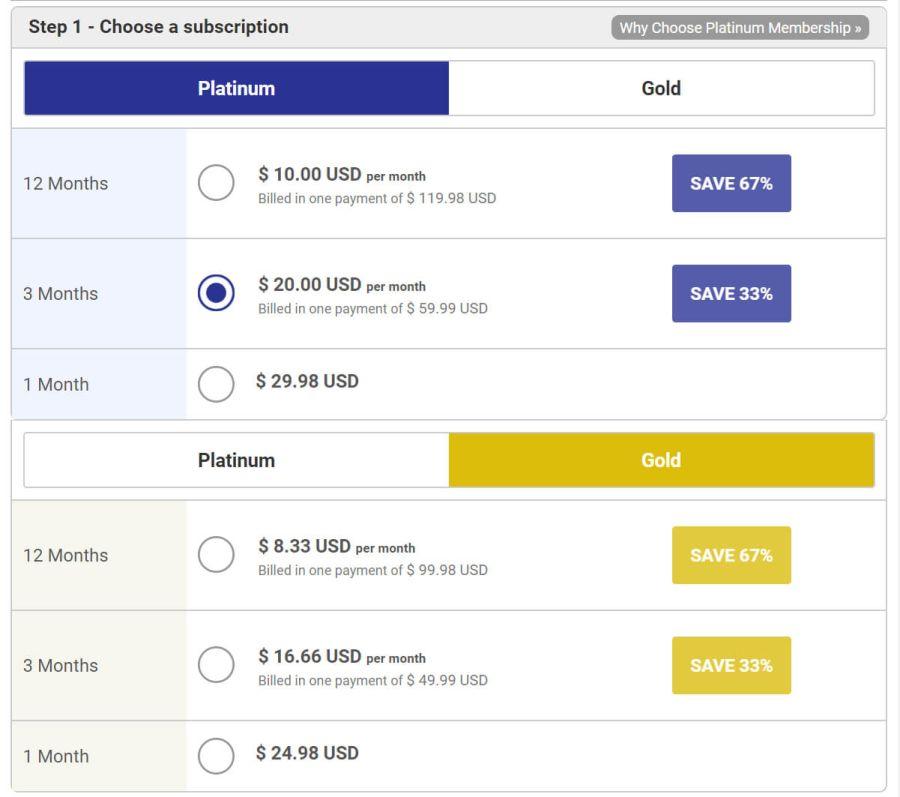 PinkCupid US Prices
