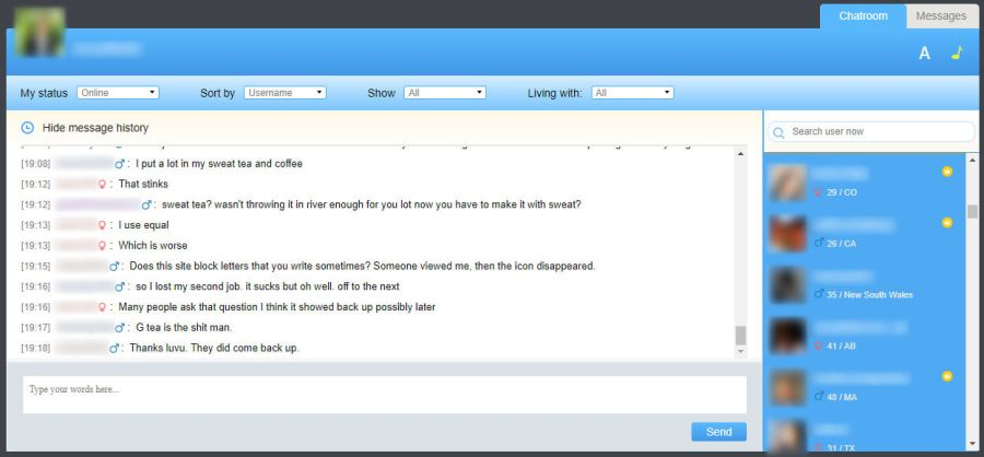 Positive Singes Chatroom