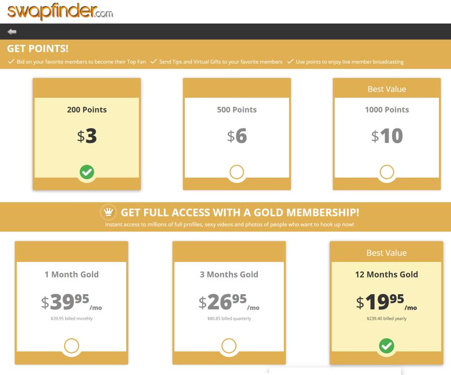 SwapFinder US Price